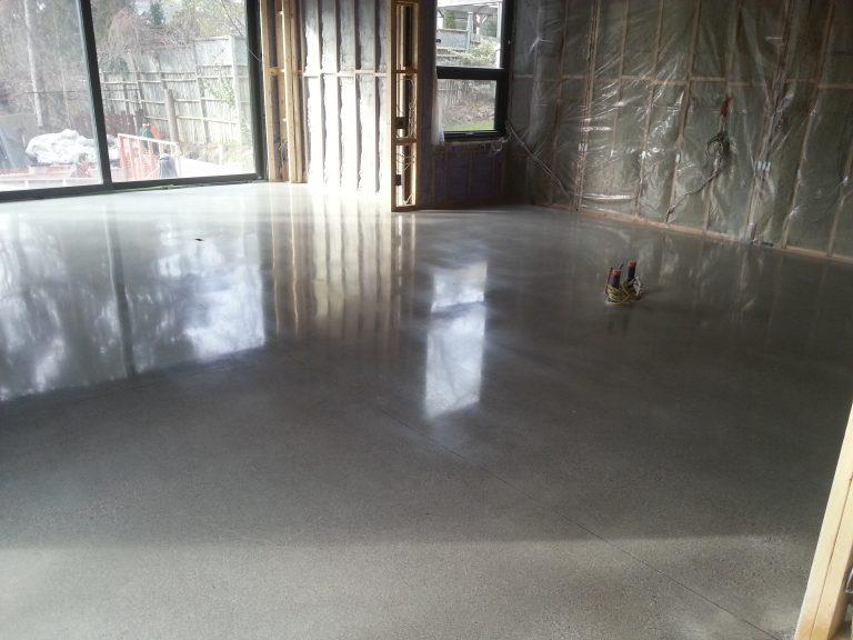New concrete Installation and Polishing project at custom build house in Toronto on Elmsthorpe Ave.