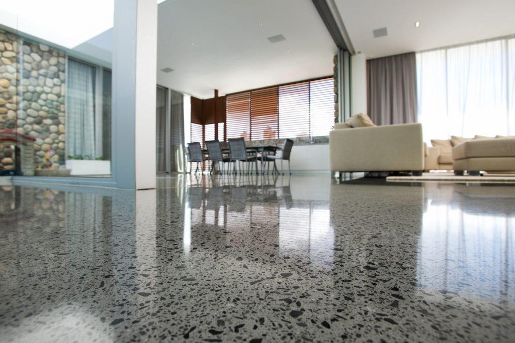 Polished Concrete Floor Interior Design